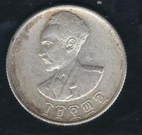 1944 - 50 Santim (Hamsa Santeem - ሀምሳ ፡ ሳንቲም) - Silver - Etiopia