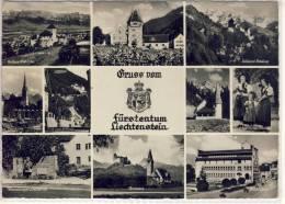 Gruss Aus LIECHTENSTEIN - Schloß Vaduz, Rotes Haus, Im Steg, Liechtensteiner Trachten ....... - Liechtenstein