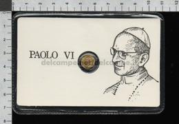 EP2785 MEDAGLIA PAPA PAOLO VI GIOVANNI BATTISTA MONTINI In Oro 8 Carati Santino Holy Card - Religione & Esoterismo