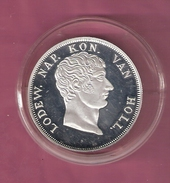NEDERLAND PENNING MEDAL 1 GULDEN 1810 LODEWIJK NAPOLEON SILVER PROOF 31.50 GRAM - Royal/Of Nobility