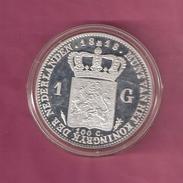 NEDERLAND PENNING MEDAL 1 GULDEN 1818 WILLEM I SILVER 32.7 GRAM - Royal/Of Nobility