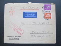 DR 1932 MiF Mit Luftpost Befördert Postamt Essen - Mühlheim Flughafen. Berlin Zentralflughafen - Briefe U. Dokumente