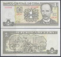 2010-BK-100 CUBA 2010. 1$. JOSE MARTI. UNC. - Cuba