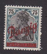 Danzig, Scott #45, Mint Hinged, Germania Overprinted, Issued 1920 - Dantzig