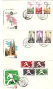 3 Cartas Con Serie Completa Cif  Con Matasellos 1 Er Congreso Internacional De Filatelia - 1951-60 Briefe U. Dokumente