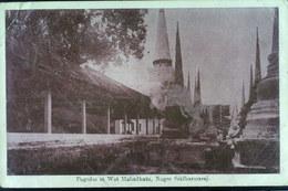 PAGODAS AT WAT MAHADHATU NAGARA SRI DHARMARAJA 1920   VIAGGIATA - Tailandia
