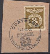 DR, 830, Sonderstempelmarke, Briefstück, Dortmund, So-Stempel, Das Sowjet- Paradies 14.2.43 - Deutschland