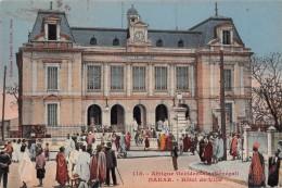 "06392  ""AFRIQUE OCCIDENTALE (SENEGAL) - DAKAR - HOTEL DE VILLE"" CART. ILL. ORIG. NON SPED. - Senegal"