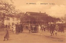 """06394 """"SENEGAL -  RUPISQUE - LA GARE"""" ANIMATA. CART. ILL. ORIG. NON SPED. - Senegal"""