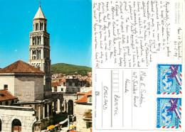 Cathedral, Split, Croatia Postcard Posted 1989 Stamp - Kroatien