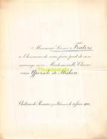 LEONCE FRATERS CLAIRE VAN YPERSELE DE STRIHOU CHATEAU DE REMAUX WIDEUMONT 1901 - Mariage