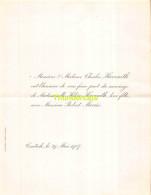 CHARLES HAVENITH HELENE ROBERT MEEUS CONTICH 1907 - Mariage
