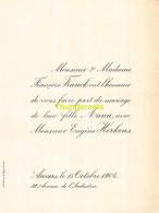 FRANCOIS FRANCK ANNA EUGENE HERKENS ANVERS 1904 - Mariage