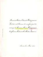EDOUARD HEINZMANN LAVINO MARIUS HEINZMANN ALBERTE LAMINE ANVERS 1908 - Huwelijksaankondigingen