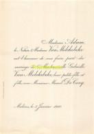 ADAM NOTAIRE VAN MELCKEBEKE GEBRIELLE MARCEL DE COCQ MALINES 1910 - Mariage
