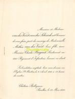 VANDER VOORT VANDER SCHRIECK MATHEA CHARLES BUGNET LIEUTENANT CHATEAU BELLEGRAVE PAUILLAC 1910 - Mariage