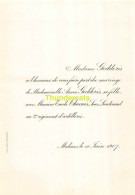 GODDERIS ANNA EMILE THEUNIS MALINES 1907 - Mariage