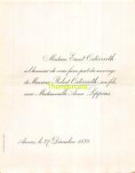 ERNEST OSTERRIETH ROBERT ANNA LIPPENS ANVERS 1899 - Mariage