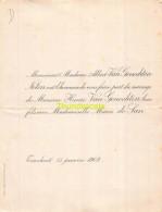 ALBERT VAN GENECHTEN HENRI MARIA DE SAN TURNHOUT 1902 - Wedding