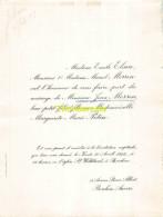 EMILE ELSEN MARCEL MORREN JEAN MARGUERITE MARIE PETEN BERCHEM 1922 - Mariage