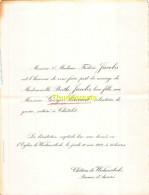 FREDERIC JACOBS BERTHE GEORGES BINARD NOTAIRE CHATELET CHATEAU DE WESTMEERBEEK ANVERS 1922 - Hochzeit