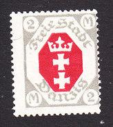 Danzig, Scott #75, Mint Hinged, Coat Of Arms, Issued 1921 - Danzig