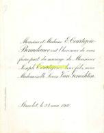 VAN GENECHTEN LOUISE JOSEPH COURTEJOIE BONNELANCE STAVELOT 1910 - Wedding