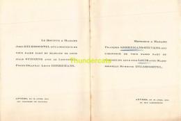 JOHN HELSMOORTEL SYMONNE FRANCOIS GORREMANS STEVENS ANVERS 1924 - Mariage