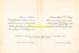 CHARLES JANSSENS MADELEINE  ALPHONSE DE CLERCQ JOSEPH ANVERS 1920 - Mariage