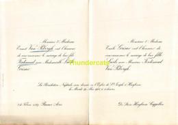 ERNEST VAN PELBORGH FERDINAND LUCILE GRISAR EMILE DE HOOGBOOM CAPPELLEN BUENOS AIRES 1925 - Mariage