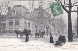 CPA - N° 28 - SUISSE GENEVE ECOLE DES BEAUX ARTS (dos Non Divisé) Animée - GE Geneva