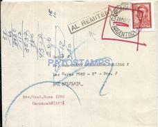 61074 ARGENTINA SANTA FE CARCARAÑA COVER AL REMITENTE AÑO 1967 CIRCULATED TO MAR DEL PLATA NO POSTAL POSTCARD - Argentinien