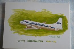 AIRLINE ISSUE / CARTE COMPAGNIE    SAS    CONVAIR 440 METROPOLITAIN - 1946-....: Moderne
