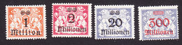 Danzig, Scott #144-145, 149, 154, Mint Hinged, Coat Of Arms Surcharged, Issued 1923 - Danzig