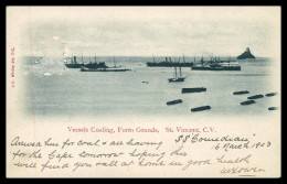 SÃO VICENTE  - Vessels Coaling, Porto Grande  ( Ed. G. Hastins Whitley Bay)  Carte Postale - Capo Verde