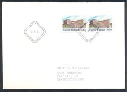 Finland 1973 Cover: Definitives Freimarken; Tourism Postal History Architecture Post Office Tampere; Postamt - Ferien & Tourismus