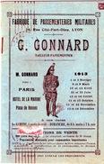 Rare Petit Catalogue (tarifs) G. Gonnard, Fabrique De Passementeries Militaires, Paris, 1913 - Cataloghi