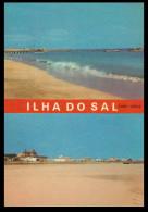 SAL -  Praia E Vista Parcial (Ed. Comêr Nº AA5 ) Carte Postale - Cap Vert
