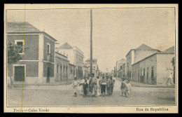SANTIAGO - PRAIA - Rua Da Républica ( Ed. Typografia Annuario Commercial)  Carte Postale - Cap Vert