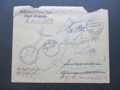 DR 1924 Städtische Baupolizei Berlin Bezirk Weißensee. Stempel: Geprüft Und Entlastet No 55. Nachporto / Weitergeleitet - Briefe U. Dokumente