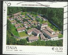 ITALIA REPUBBLICA ITALY REPUBLIC 2013 SACRO EREMO DI CAMALDOLI USATO USED OBLITERE´ - 6. 1946-.. Repubblica