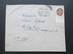 DR 1929 Nr. 434 Einfachfrankatur Unterrand!! Deutsche Nothilfe! Eilt Sehr! Interessanter Beleg! - Briefe U. Dokumente