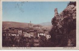 CPA Correns - Le Village Vu Du Rocher De La Roquette - Frankrijk