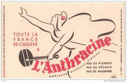 BUVARD CHARBON L´ANTHRACINE RUE CAMBACERES PARIS - Gas, Garage, Oil