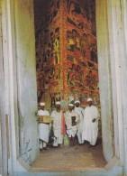 Ethiopia PPC Narga Selassie Church On Dek Island In Lake Tana ADDIS ABABA 1974 Denmark (2 Scans) - Äthiopien