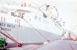 70s BLACK WATCH BERGEN SHIP LINER ORIGINAL 35mm DIAPOSITIVE SLIDE Not PHOTO No FOTO B181 - Diapositives (slides)
