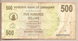 Zimbabwe - Banconota Circolata Da 500 Dollari - 2006 - Zimbabwe