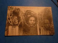 INDOCHINE TONKIN TETES DES ARTILLEURS INDIGENES EXECUTES LE 8/7/1908 ANNAMITE - Cartes Postales