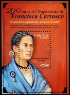 Costa Rica (2016) - Block -  /  Woman - Francisca Carrasco - UNUSUAL Gold - Costa Rica