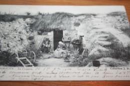 CPA THORIGNY Sur Oreuse Famille Troglodyte La Crayere Famille Paysanne Coll JD Sens 1904 - Autres Communes